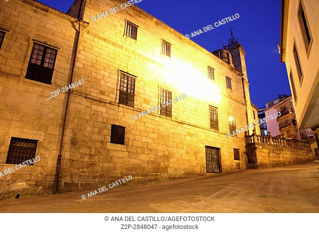 Old convent Orense old city at dusk Galicia Spain