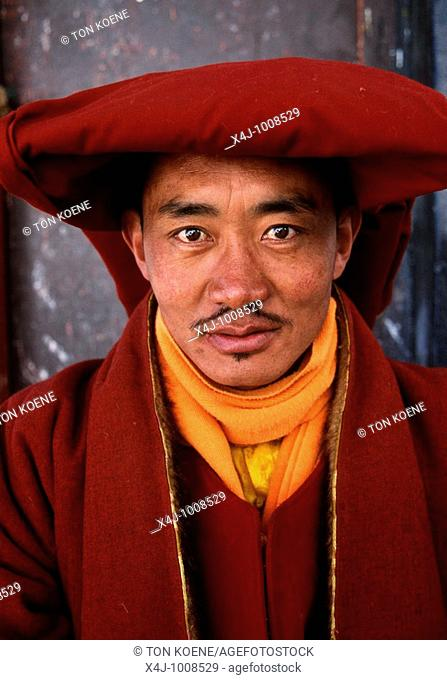 A Tibetan monk  Tibet is known as the Roof of the World, with most of the area above 3,000 feet  Under firm Chinese control since 1950