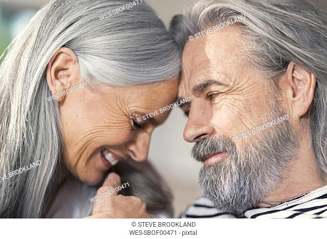 Portrait of an affectionate senior couple