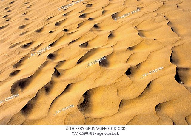 Namibia, Namib-Naukluft National park, Sossusvlei, sand pattern on ground