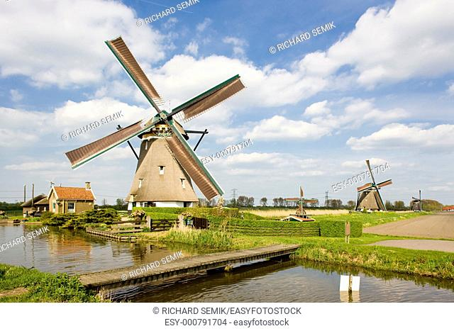 windmills, Zevenhuizen, Netherlands
