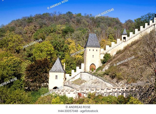 Karlstejn Castle, Karlstein, Czech Republic, Europe