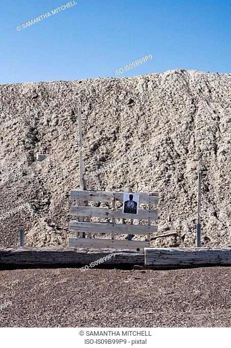 Firing range target at Wendover, Utah, USA