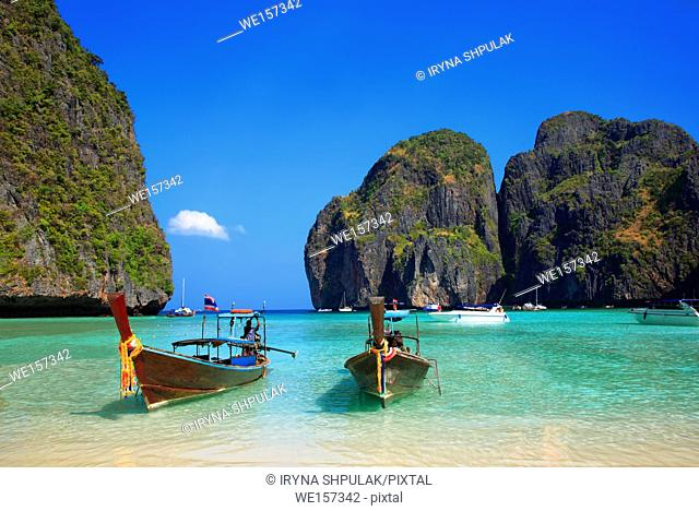 Maya Bay, Ko Phi Phi Leh Island, province Krabi, Andaman Sea, Thailand