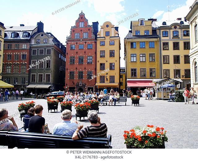 Stockholm, Stortorget, Big Square, Sweden, Gamla Stan