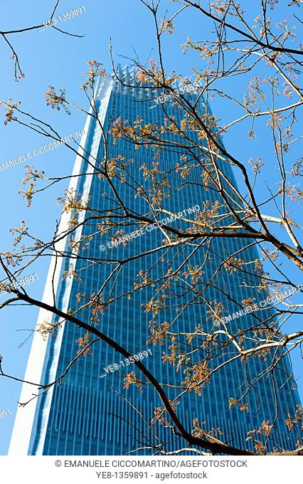 Tower III, The China World Trade Center by Skidmore, Owings and Merrill Architects, 1990, CBD, Beijing, China, Asia
