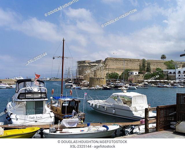 Girne Harbour KYRENIA NORTHERN CYPRUS Old harbour Kyrenia marina