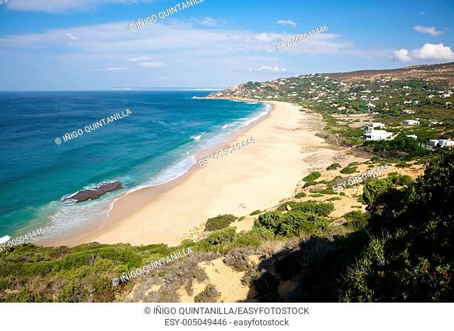 sandy beach next to Zahara de los Atunes in Cadiz Andalusia Spain