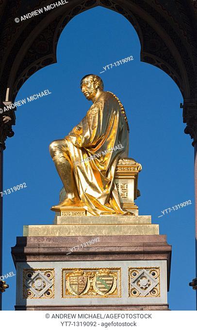 Albert Memorial, Hyde Park, Kensington, London, England, United Kingdom
