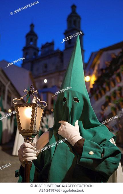 Spain , Andalucia Region, Cadiz Province, Olvera City, Holly Thursday Parade