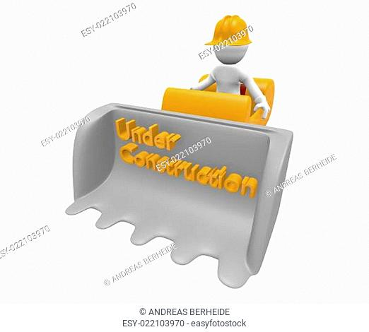 Construction worker with a bulldozer