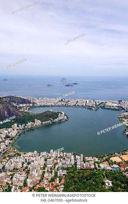 Lagune Lagoa Rodrigo de Freitas, Ipanema Strand, Rio de Janiero, Brasilien