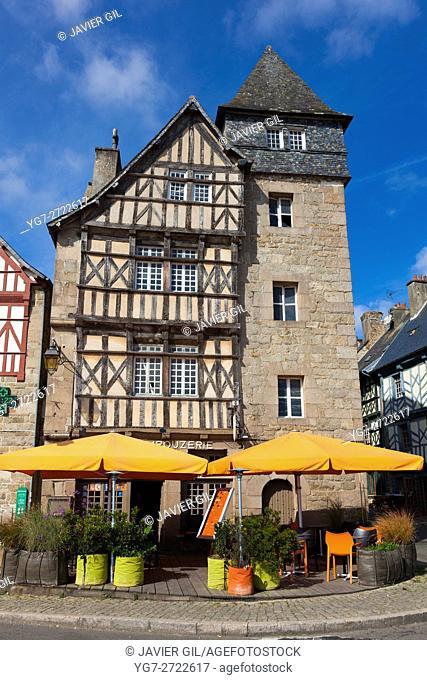 Architecture of Treguier, Cotes d'armor, Bretagne, France