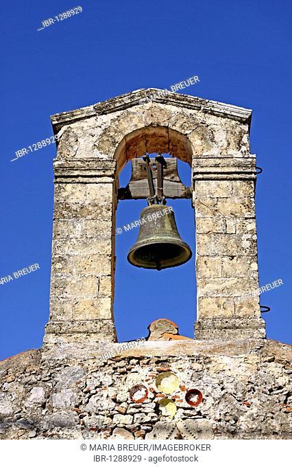 Bell tower, Church of Agios Ioannis, Axos, Crete, Greece, Europe