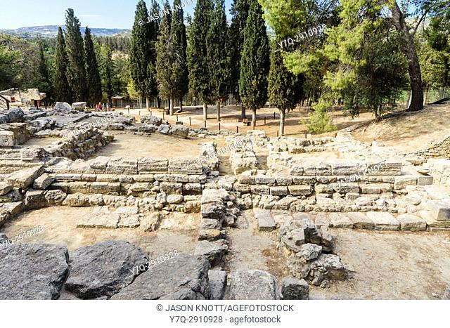 Ruins at the Palace of Knossos, Heraklion, Crete, Greece