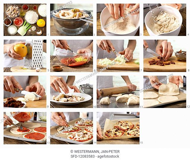 How to prepare seafood pizza
