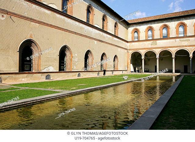 La Corte Ducale, Castello Sforzesco, Milan, Italy