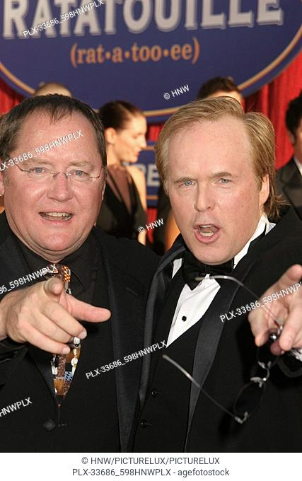 "John Lasseter, Brad Bird 06/22/07 """"Ratatouille"""" Premiere @ Kodak Theatre, Hollywood Photo by Izumi Hasegawa/HNW / PictureLux June 23"
