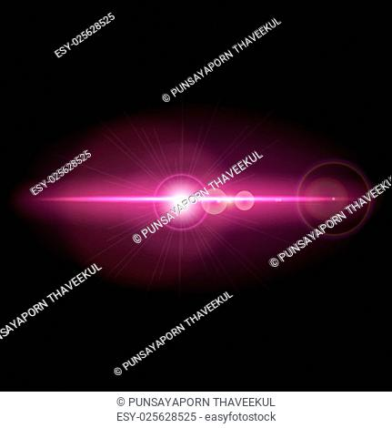 Abstract background with lens flare, stock vector