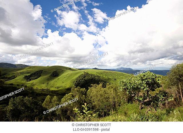Bvumba Mountains from Seldom Seen Cottages, Bvumba, Eastern Highlands, Zimbabwe