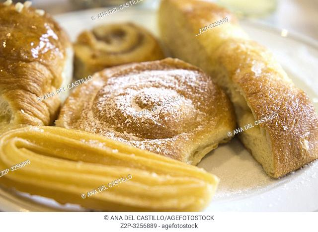 Churro and Spanish pastries for breakfast