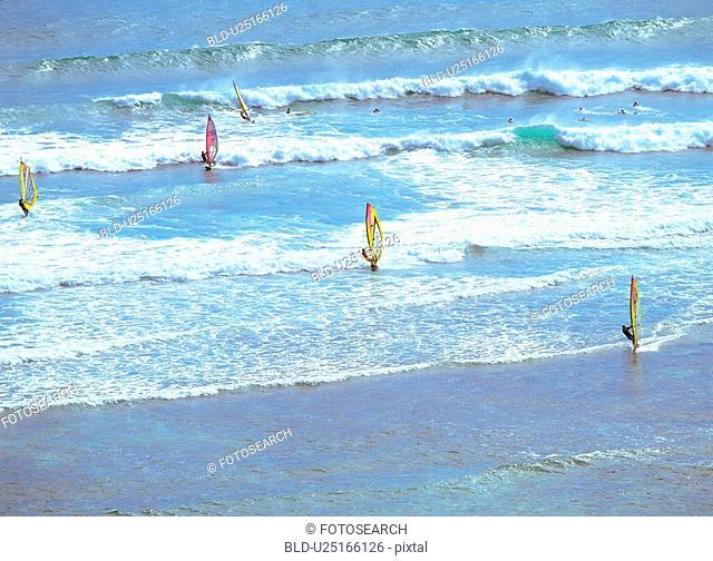 scene, sea, landscape, scenery, nature, view, leisure