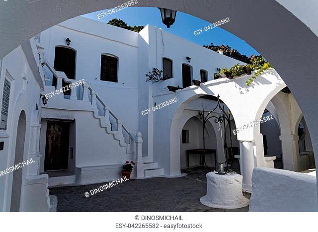 The monastery of Panagia Kyra in Nisyros island, Greece