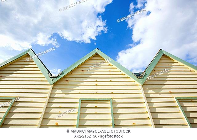 Old Bathing huts, Brighton, United Kingdom