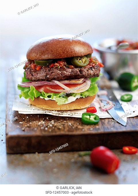 Double chilli burger