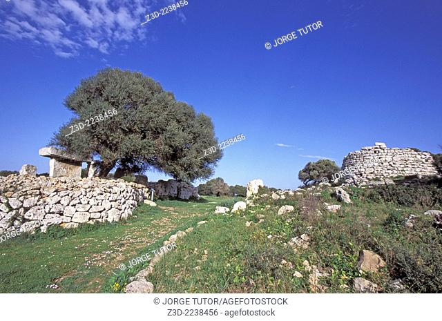 Talayotic settlement of Talatí de Dalt near Mao, Menorca, Balearic island. It's one of the most important sites in the Minorcan prehistory