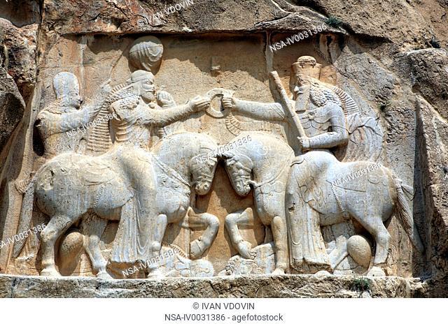 Reliefs of Sassanian kings 3rd century, Naqsh-e Rustam, Fars province, Iran