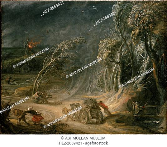 Landscape: a Storm, 18th century. Artist: Unknown