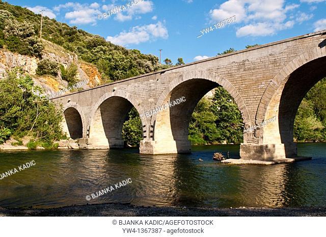 Bridge over the River Ceze, Languedoc, France