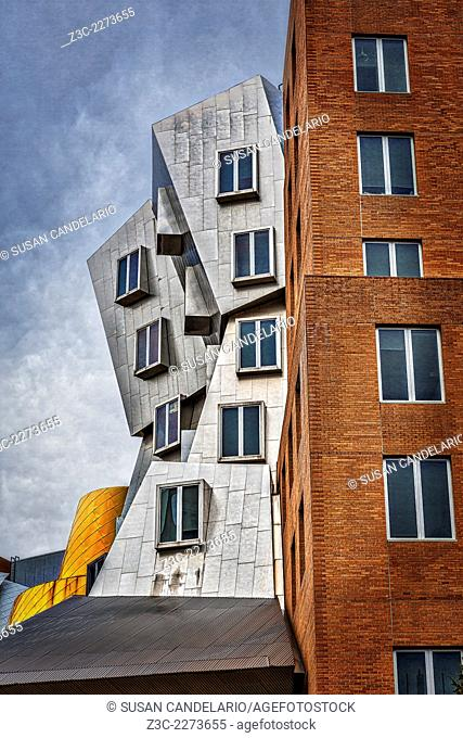 MIT Stata Building Center - Cambridge - The Ray and Maria Stata Center university complex by Pritzker Prize award winning architect Frank Gehry for the...