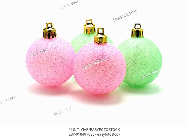 Christmas ornaments with dropout background