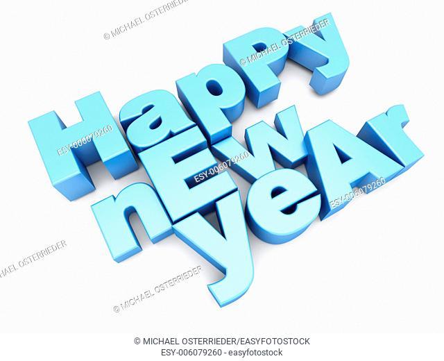 Happy new year. 3d illustration