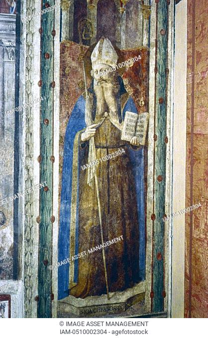 Fra Angelico Guido di Pietro/Giovanni da Fiesole c1400-55 Italian painter  'St John Chrysostoni'  Fresco  Chapel of Nicholas V, Vatican Palace