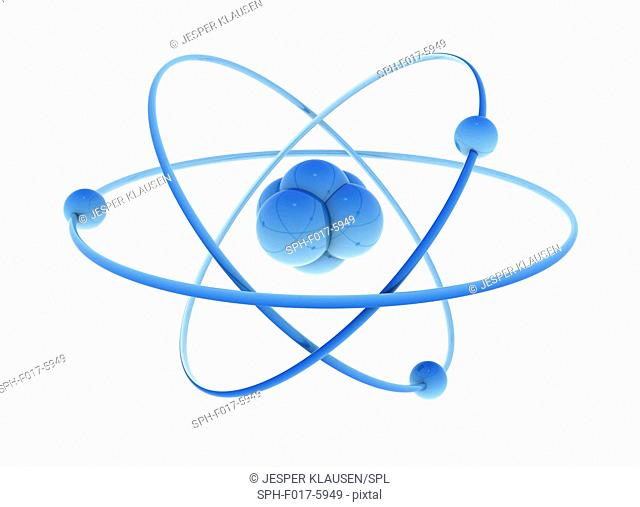 Nucleus and atoms, illustration