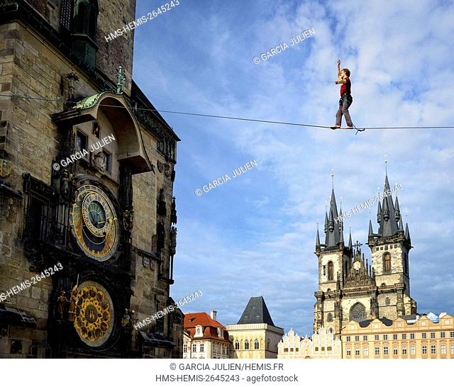 Czech Republic, Prague, historic centre listed as World Heritage by UNESCO, the Old Town (Stare Mesto), Old Town Square (Staromestske namesti)