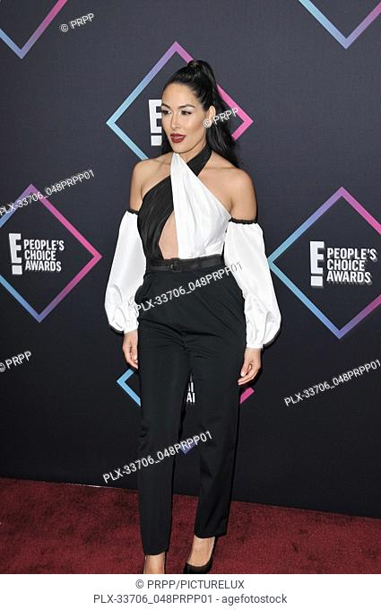 Brie Bella at E! People's Choice Awards held at the Barker Hangar in Santa Monica, CA on Sunday, November 11, 2018. Photo by PRPP / PictureLux