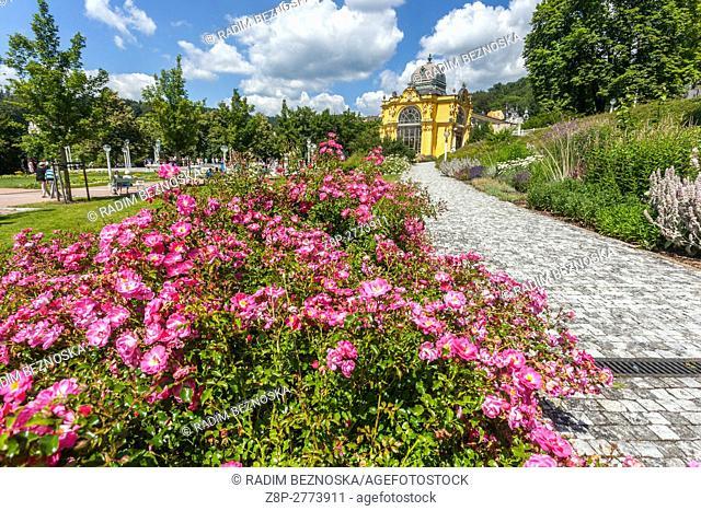 Colonnade, Marianske Lazne (Marienbad), a spa town, West Bohemia, Czech Republic