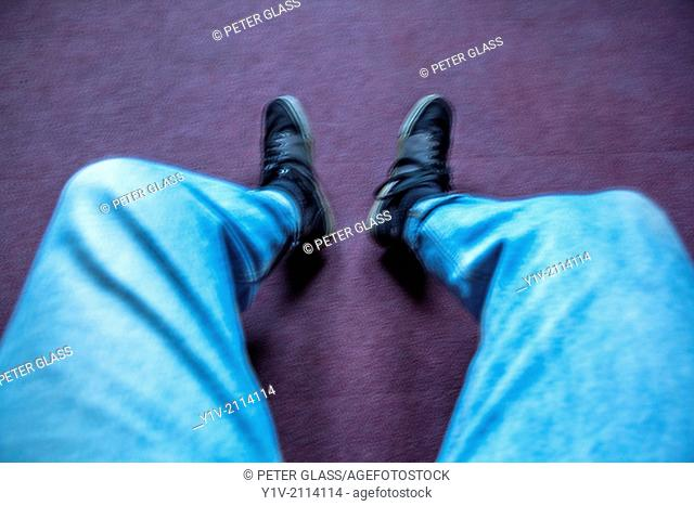 Man's legs and feet