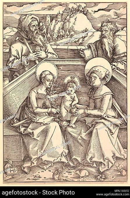 The Holy Family with St. Anna and St. Joachim. Artist: Hans Baldung (called Hans Baldung Grien) (German, Schwäbisch Gmünd (?) 1484/85-1545 Strasbourg...