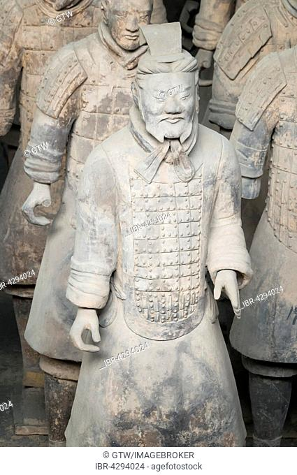Museum of the Terracotta Warriors, Mausoleum of the first Qin Emperor, Xian, Shaanxi Province, China