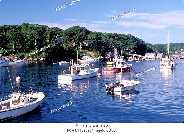 New Harbor, Maine, ME, Pemaquid, Fishing boats in New Harbor