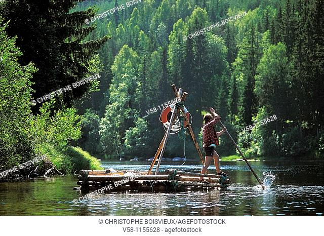 Sweden, Varmland, Rafting on Klaralven river