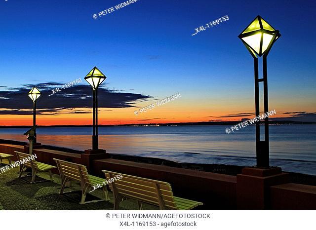 Germany, Mecklenburg Western Pomerania, Baltic Sea, Island of Ruegen, Binz at Night