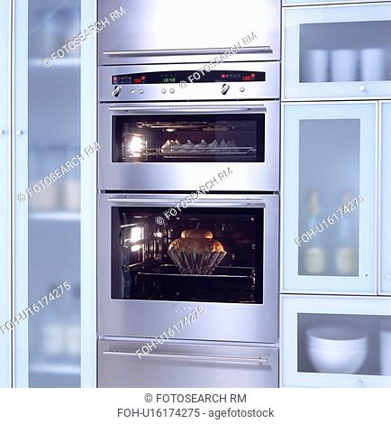 Close-up of stainless steel double oven&13,&10,&13,&10,&13,&10,&13,&10,&13,&10,&13,&10