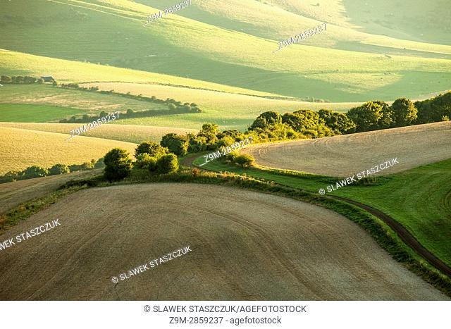 Autumn in South Downs National Park near Lewes, East Sussex, England