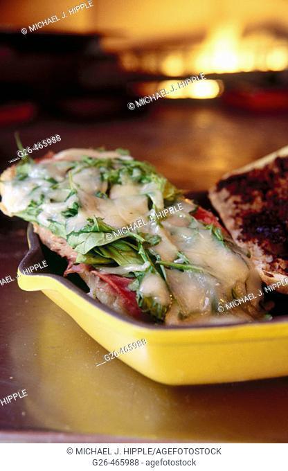 Prosciutto and fig sandwich